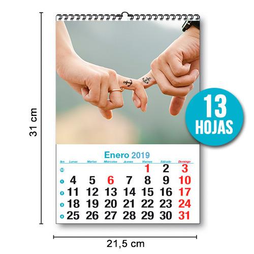 Calendario personalizado wiro 13 hojas Mensual