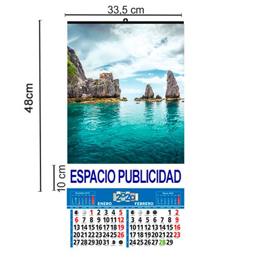 Calendario Pared Bimensual 33,5x48