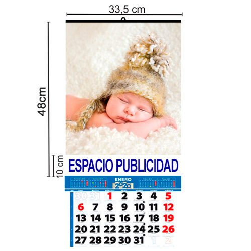 Calendario Pared Laminas 33,5x48