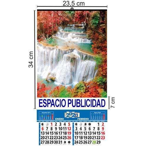 Calendario Pared Bimensual 23,5x34