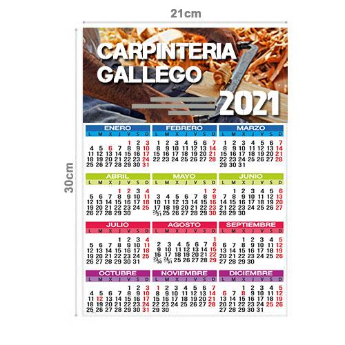 Calendario Pared Anual 21x30