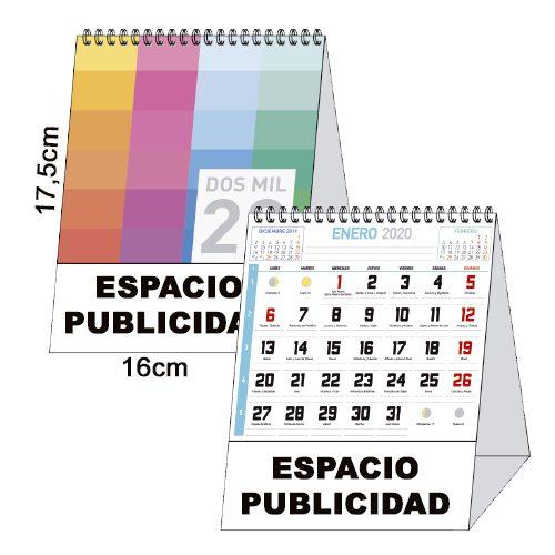 calendario sobremesa 17,5x16cm