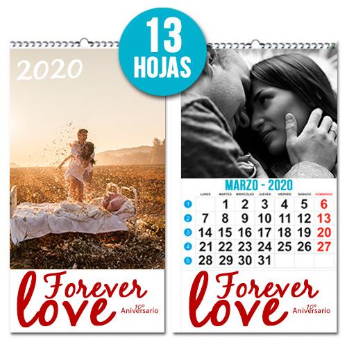 Calendario personalizado Mensual 13 hojas