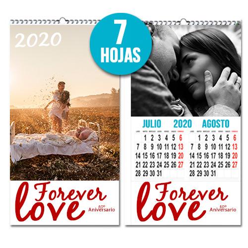 Calendario personalizado Bimensual 7 hojas