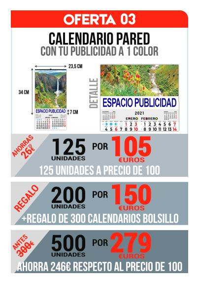 oferta 03 Calendarios baratos