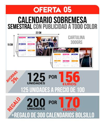 Oferta 05 Calendarios