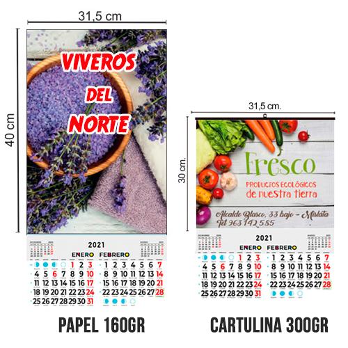 Calendario BiMensual todo color