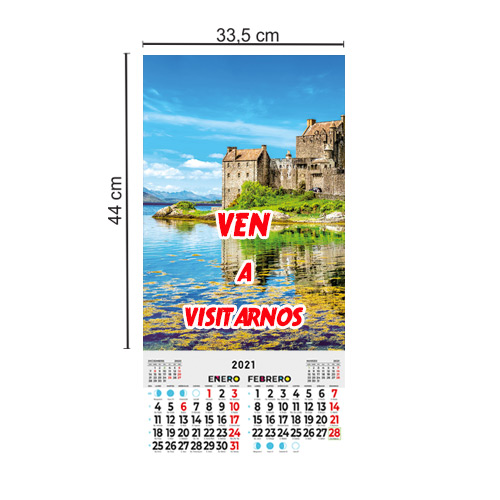 Calendario Pared 33,5x44 Bimensual