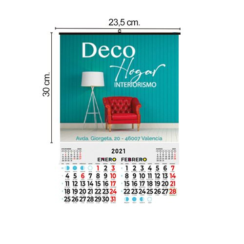 Calendario Pared 23,5x30 Bimensual