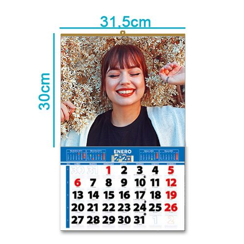 Calendario personalizado pared foto