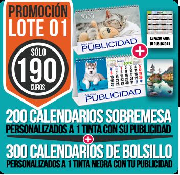Calendarios baratos lote 01
