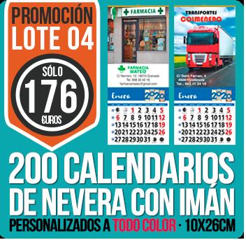 Calendarios baratos lote 04